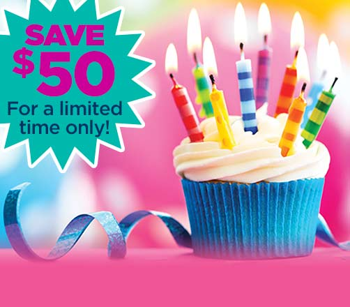 SAVE $50 on parties booked in October!